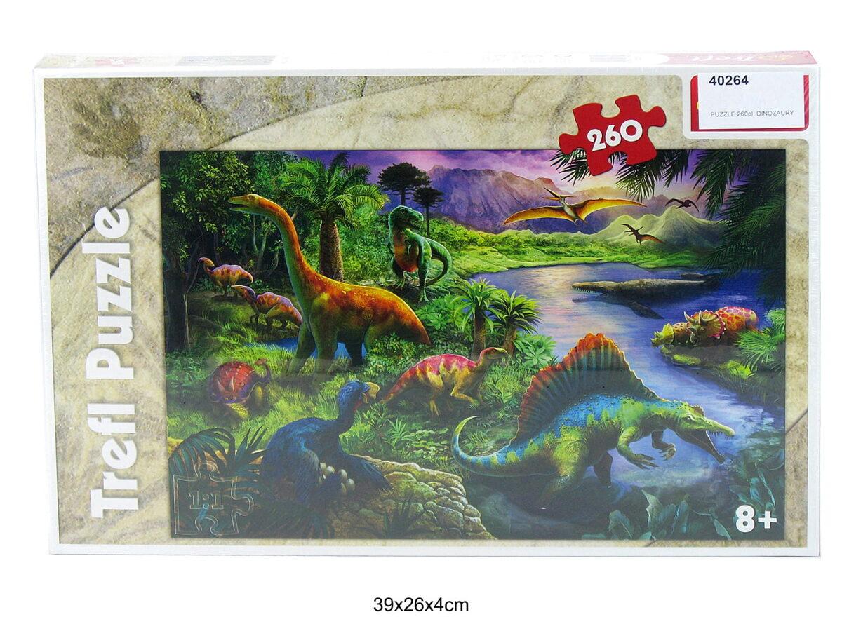 Trefl puzle Dinozaurs 260 gab