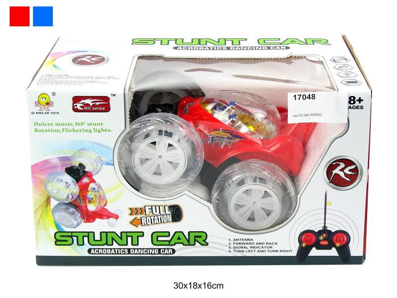 Radiovadāma interaktīva ar gaismas un skaņas signāliem automašīna STUNT CAR 360