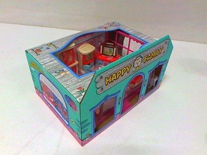 Spēļu māja HAPPY FAMILY ar mēbelēm