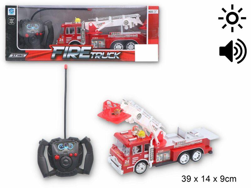 Radiovadāma ugunsdzēsēju mašīna FIRETRUCK ar gaismas un skaņas signāliem
