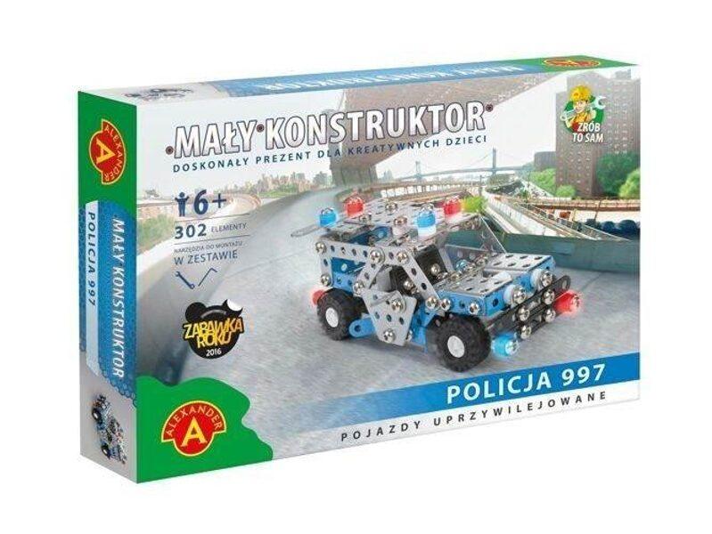Metāla konstruktors POLICIJA 997 lielais, 302 elementi