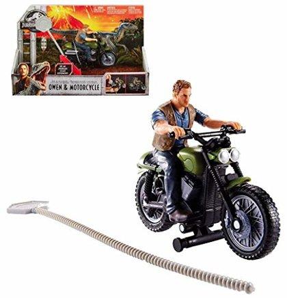 Mattel JURASSIC WORLD Owen & Motorcycle komplekts