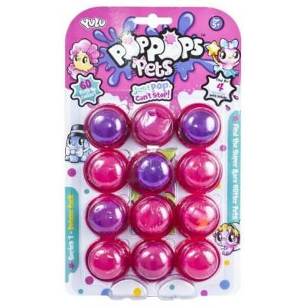 Mooki POP POPS SNOTZ 12 paka slimi ar pārsteigumiem, rozā