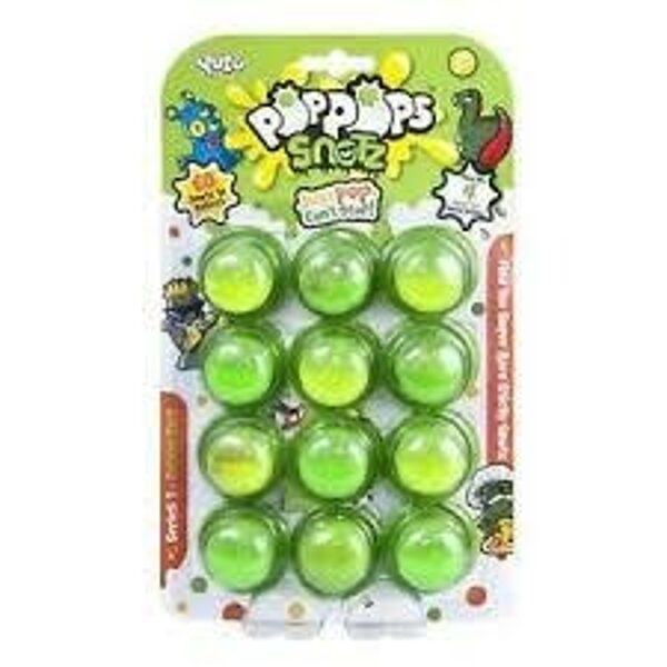 Mooki POP POPS SNOTZ 12 paka slimi ar pārsteigumiem, zaļš