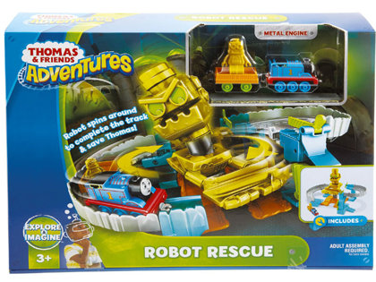 Fisher Price Thomas and Friends ADVENTURES Robot completes track vilciena trase