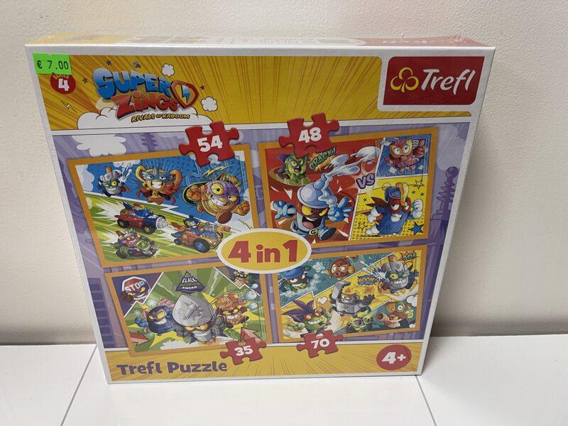 Trefl puzle Super Zings 4 in 1