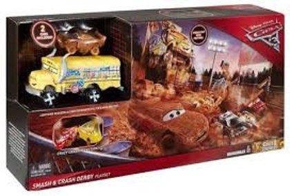 Mattel Disney Pixar Cars Crazy Craskers Vāģi 2 komplekts auto arēna