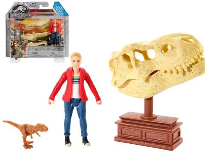 Mattel JURASSIC WORLD Maisie & Tyrannosaurus Rex mini figūru komplekts